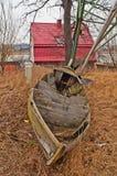Деревянная развалина шлюпки Стоковое Фото