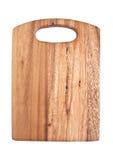 Деревянная разделочная доска изолированная на белой предпосылке Стоковое фото RF