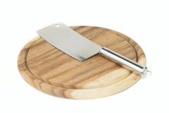 Деревянная разделочная доска с ножом Стоковые Фото