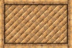 Деревянная рамка блока Стоковые Изображения