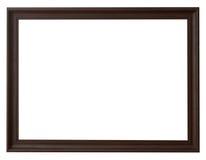 Деревянная рамка горизонтальная для изображения на изолированной белизне стоковая фотография rf