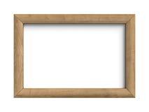 Деревянная рамка изолированная на белой предпосылке Стоковая Фотография