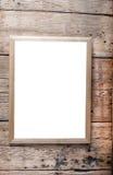 Деревянная рамка фото Стоковая Фотография