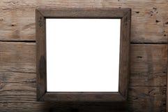 Деревянная рамка фото Стоковое Фото