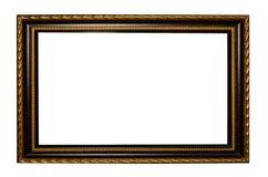 Деревянная рамка для картины или изображение на белой предпосылке Стоковое Изображение