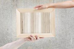 Деревянная рамка стоковое изображение