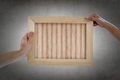 Деревянная рамка стоковое фото rf