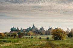 Деревянная резиденция русских царей в Kolomenskoye, Москве, России стоковые изображения rf