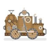 Деревянная ретро машина иллюстрация штока