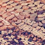 Деревянная рука блоков печатания высекла ремесленниками в Индии Pushkar Стоковое Изображение RF