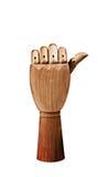Деревянная рука Стоковая Фотография