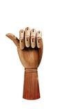 Деревянная рука Стоковое фото RF
