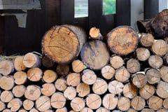 Деревянная ручка для места огня Стоковые Фото