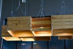 Деревянная светлая коробка Стоковое фото RF