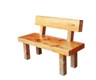 Деревянная скамья изолированная ручной работы с путем клиппирования Стоковые Фото