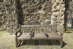 Деревянная скамья стоковое изображение rf