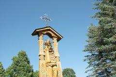 Деревянная скульптура Иисуса Христоса Стоковые Фотографии RF
