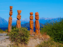 Деревянная скульптура Стоковое Фото