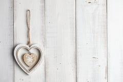 Деревянная смертная казнь через повешение сердца на загородке Стоковая Фотография