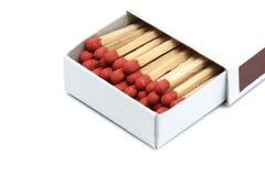 Деревянная спичка в коробке Стоковое фото RF