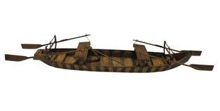 Деревянная старая старая модель маломерного судна изолированная на белой предпосылке стоковые изображения