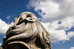 Деревянная статуя идола Стоковые Изображения RF
