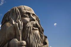 Деревянная статуя идола Стоковое Изображение RF