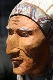 Деревянная статуя коренного американца Стоковые Фотографии RF