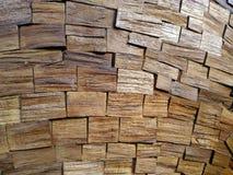 Деревянная стена настила Стоковые Фото