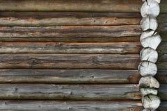 Деревянная стена от журналов старых как текстура предпосылки Стоковое Изображение