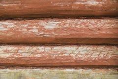 Деревянная стена от журналов Стоковые Фотографии RF