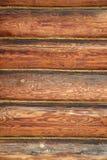 Деревянная стена от журналов Стоковая Фотография
