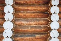 Деревянная стена от журналов Стоковые Изображения RF