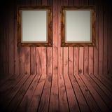Деревянная стена рамки Стоковые Фотографии RF