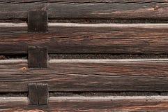 Деревянная стена старого деревянного здания Стоковое Изображение RF