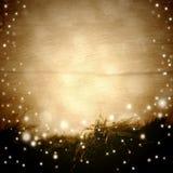 Деревянная стена с карточкой greetin Christas звезд Стоковое Изображение