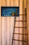 Деревянная стена Стоковое Изображение
