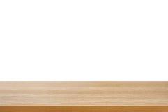 Деревянная столешница на белой предпосылке Стоковые Фото