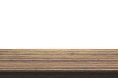 Деревянная столешница на изолированной белой предпосылке Стоковые Изображения RF