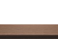 Деревянная столешница на изолированной белой предпосылке Стоковое Изображение