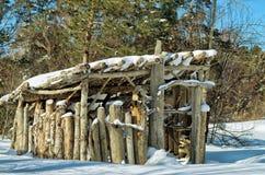 Деревянная структура в парке Стоковое Фото