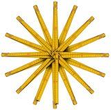 Деревянная сформированная звезда правителя складчатости иллюстрация штока