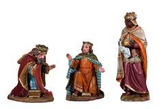 Деревянная сцена рождества Стоковое Изображение