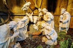 Деревянная сцена рождества Стоковые Фотографии RF