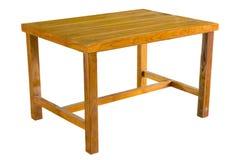 Деревянная таблица изолированная на белизне стоковые фотографии rf