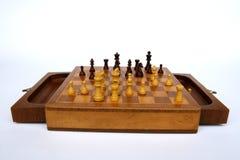Деревянная таблица шахмат Стоковые Изображения