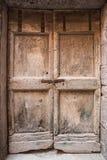 Деревянная текстура двери Стоковое Изображение RF