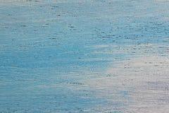 Деревянная текстура голубого и белого Стоковая Фотография RF