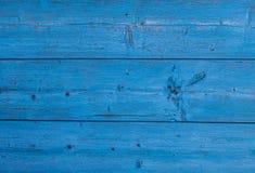 Деревянная текстура голубого цвета Предпосылка покрашенной древесины Стоковые Фото