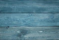 Деревянная текстура голубых доск Стоковое Изображение